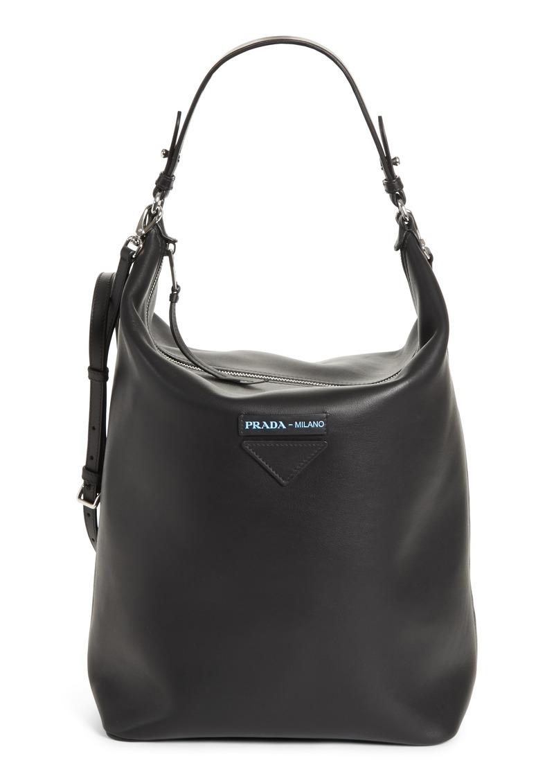 249fa7c346b21b Prada Prada Concept Calfskin Leather Hobo | Handbags