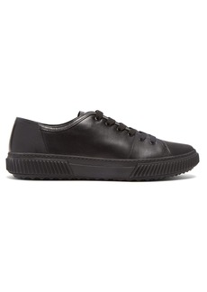 Prada Contrast-panel leather trainers