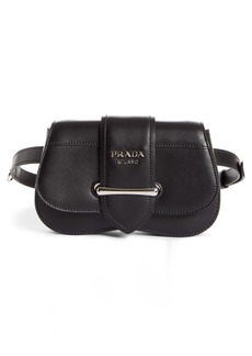 Prada Convertible Calfskin Leather Belt Bag