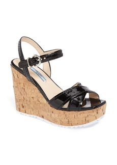 Prada Cork Wedge Sandal (Women)