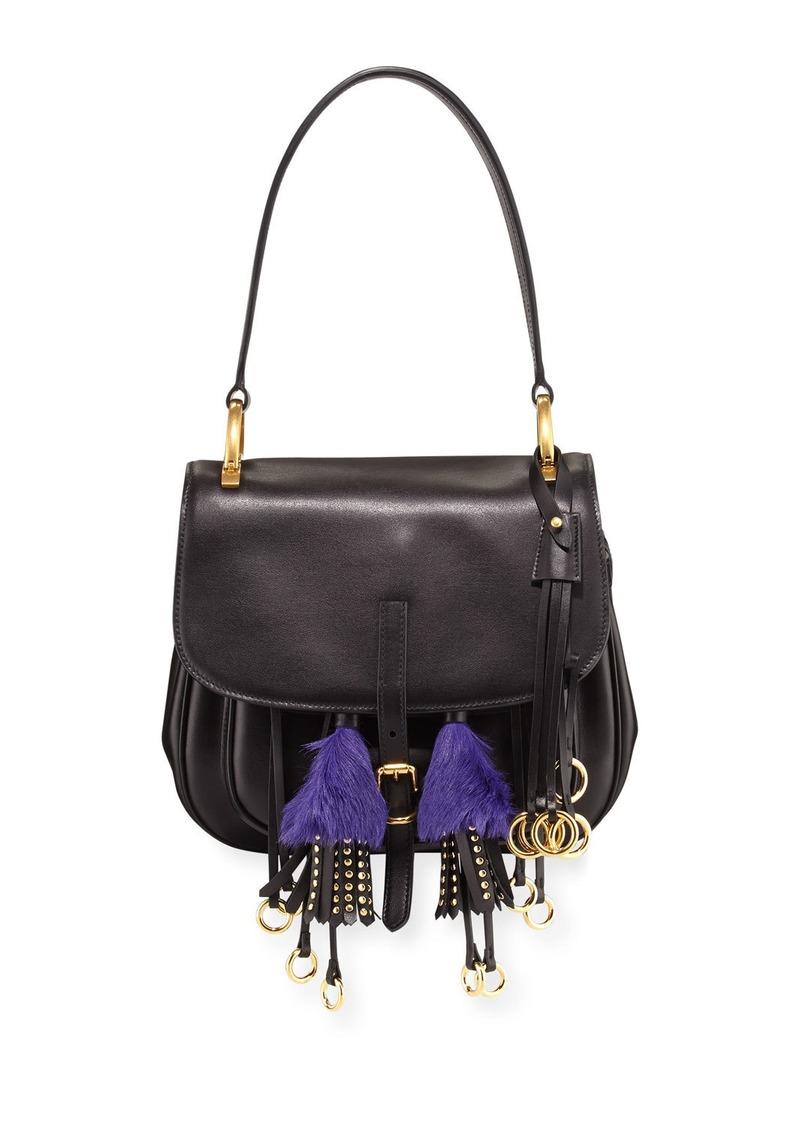 be7e6484fb99 Prada Prada Corsaire Calf Leather Fringe Shoulder Bag