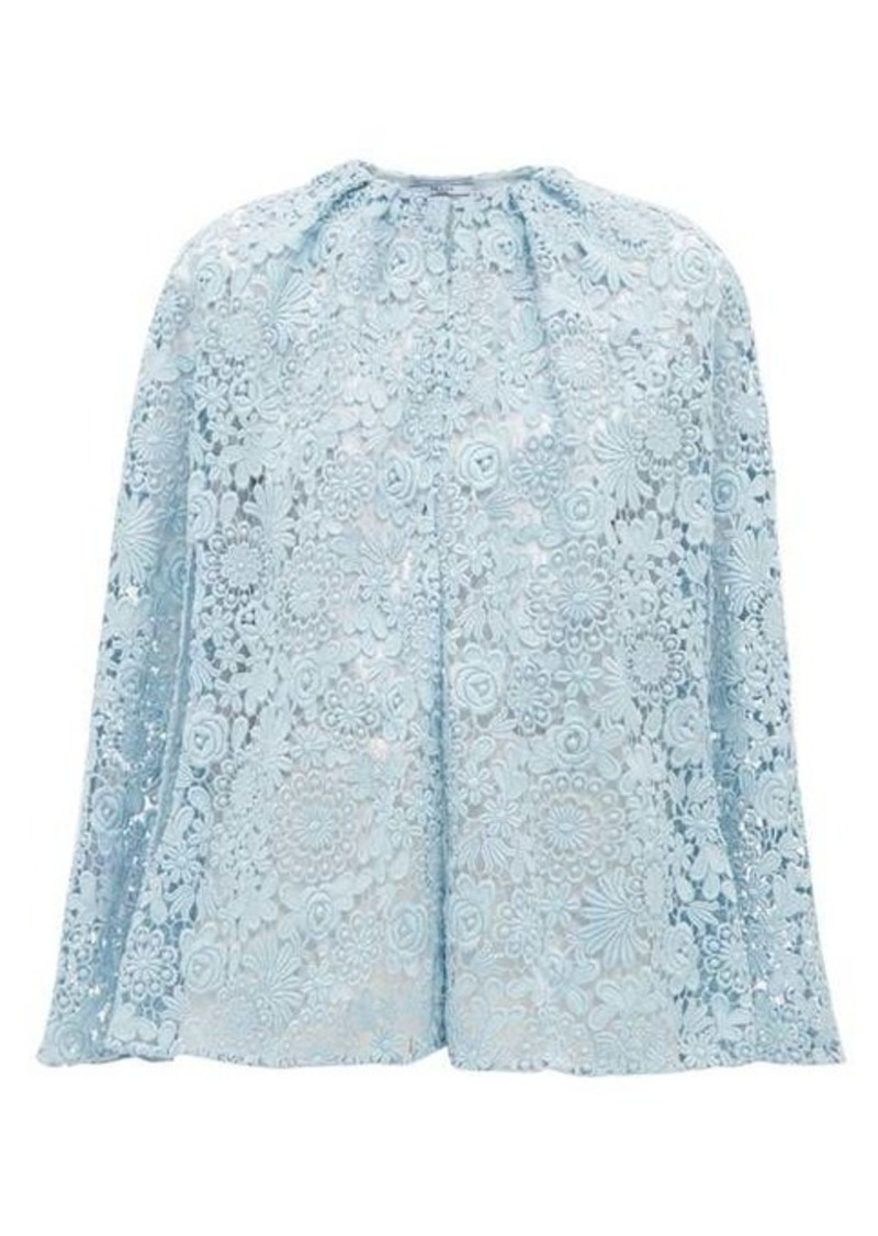Prada Cotton-blend guipure-lace cape