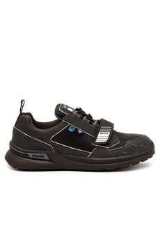 Prada Cracked leather low-top trainers