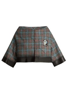 Prada Cropped houndstooth-check wool-blend jacket