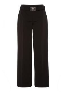 Prada Cropped Stretch-Knit Straight-Leg Pants