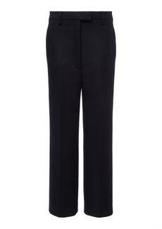 Prada Cropped Wool-Crepe Straight-Leg Pants