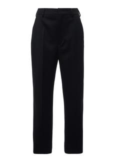 Prada Cropped Wool Straight-Leg Pants