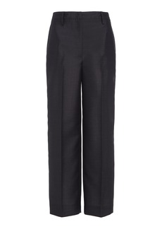 Prada Cropped Wool Tapered Pants