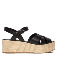 Prada Crossover leather flatform sandals