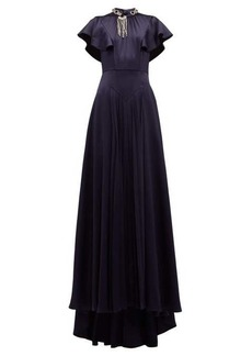 Prada Crystal-embellished satin gown
