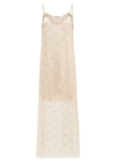 Prada Crystal-embellished silk-chiffon dress