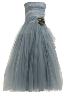 Prada Crystal-embellished tulle gown