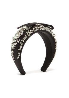 Prada Crystal-embroidered silk headband