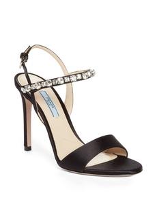 Prada Crystal Quarter Strap Sandal (Women)