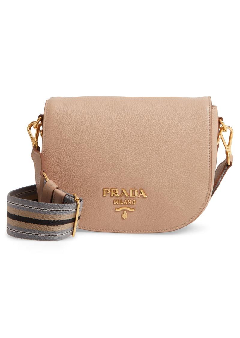 Prada Daino Messenger Leather Crossbody Bag
