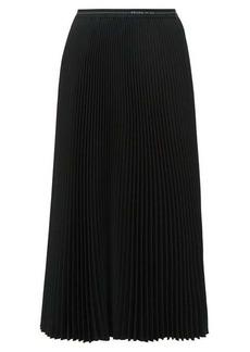 Prada Divisa twill pleated skirt