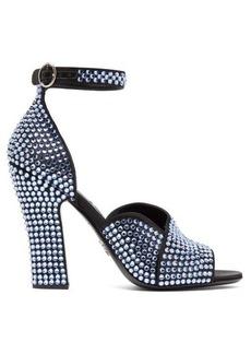 Prada Donna crystal-embellished leather sandals