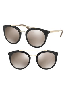 Prada Double Bridge 52mm Sunglasses