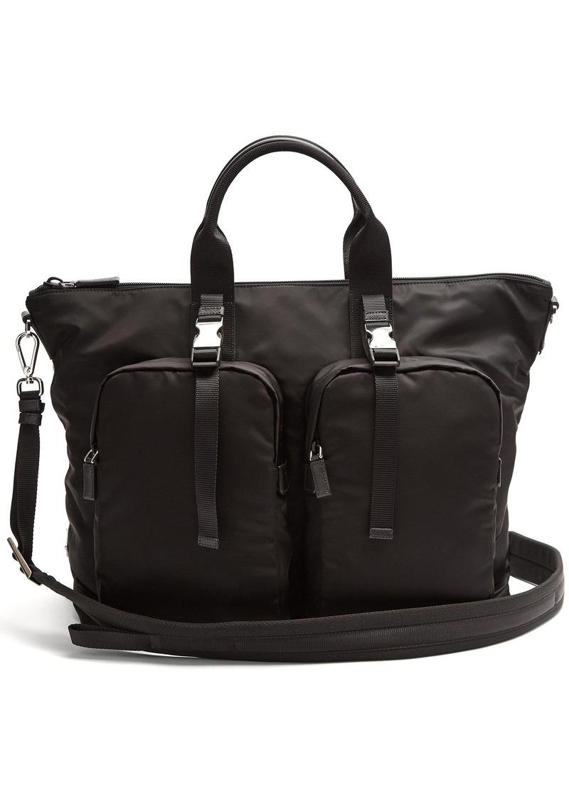 b6a76cc657c5 Prada Prada Double pocket nylon holdall | Bags