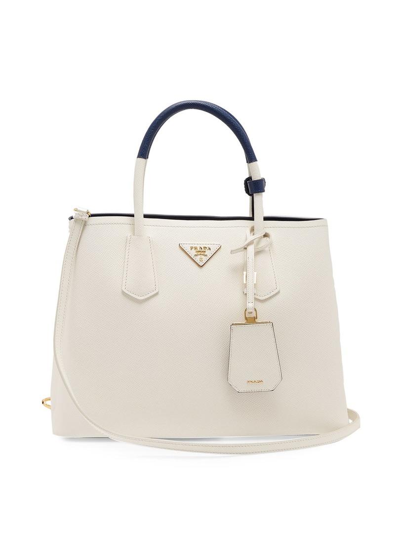 2c6125b464e Prada Prada Double saffiano-leather bag   Handbags