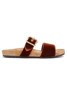 Prada Double-strap velvet sandals