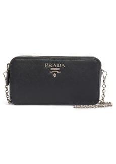 Prada Double Zip Leather Crossbody Bag