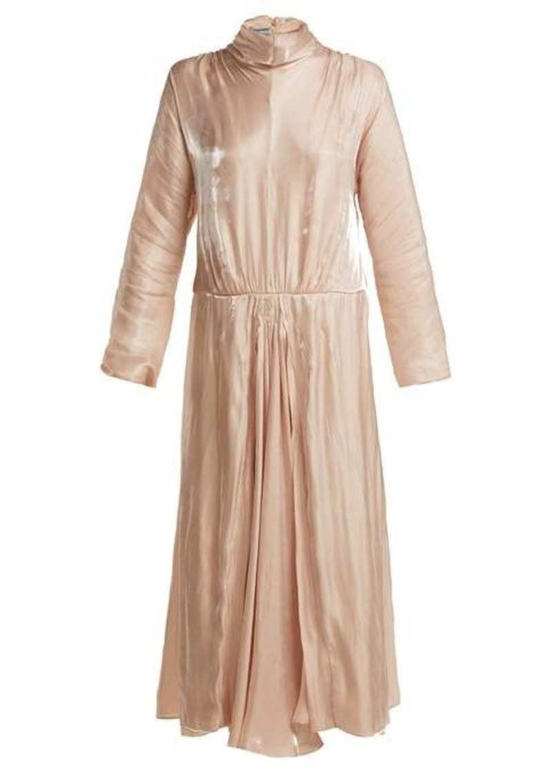 Prada Draped charmeuse dress