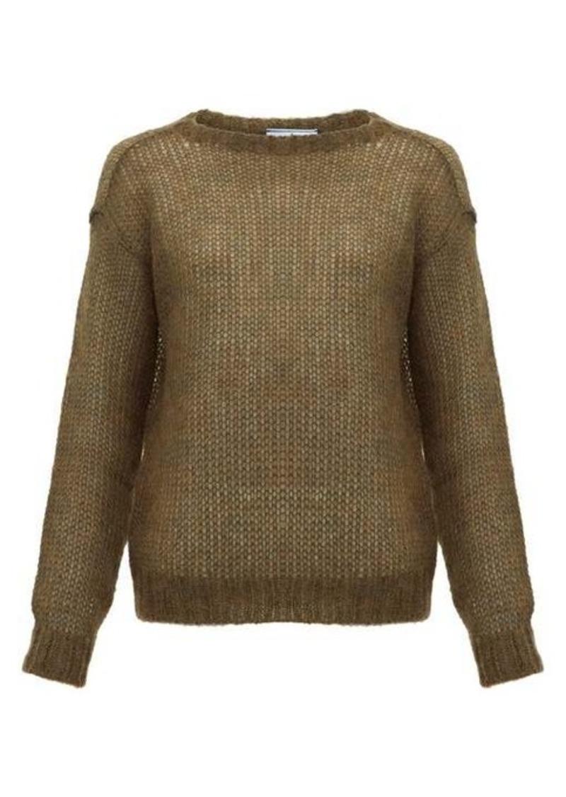 Prada Dropped-shoulder mohair-blend sweater