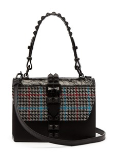 Prada Elektra mini tweed and crocodile-leather bag