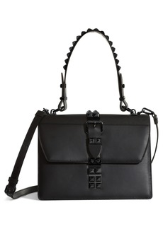 Prada Elektra Studded Calfskin Leather Satchel