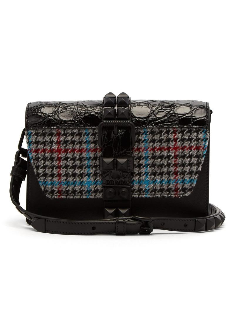 a473e04056ca Prada Prada Elektra studded leather cross-body bag