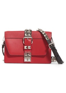 Prada Elektra Studded Leather Crossbody Bag