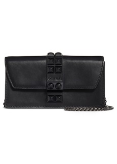 Prada Elektra Studded Leather Wallet on a Chain