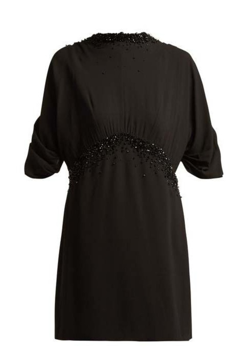 Prada Embellished crêpe dress