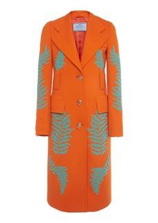 Prada Embellished Single-Breasted Wool Coat