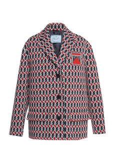 Prada Embroidered Jacquard Jacket
