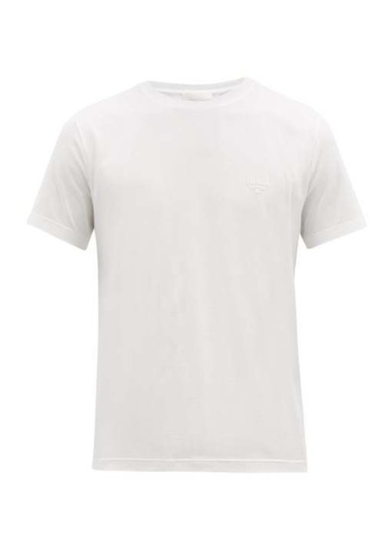 Prada Embroidered-logo stretch-cotton T-shirt