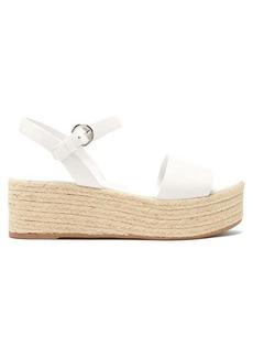 Prada Espadrille leather flatform sandals