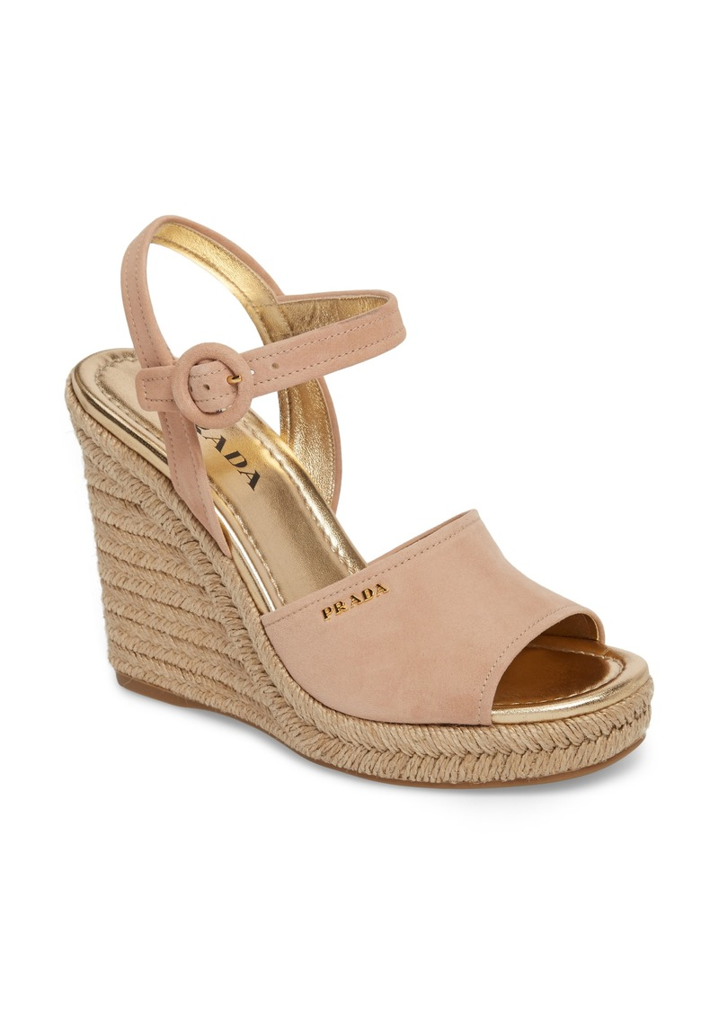 22119de90c61 Prada Prada Espadrille Wedge Sandal (Women)