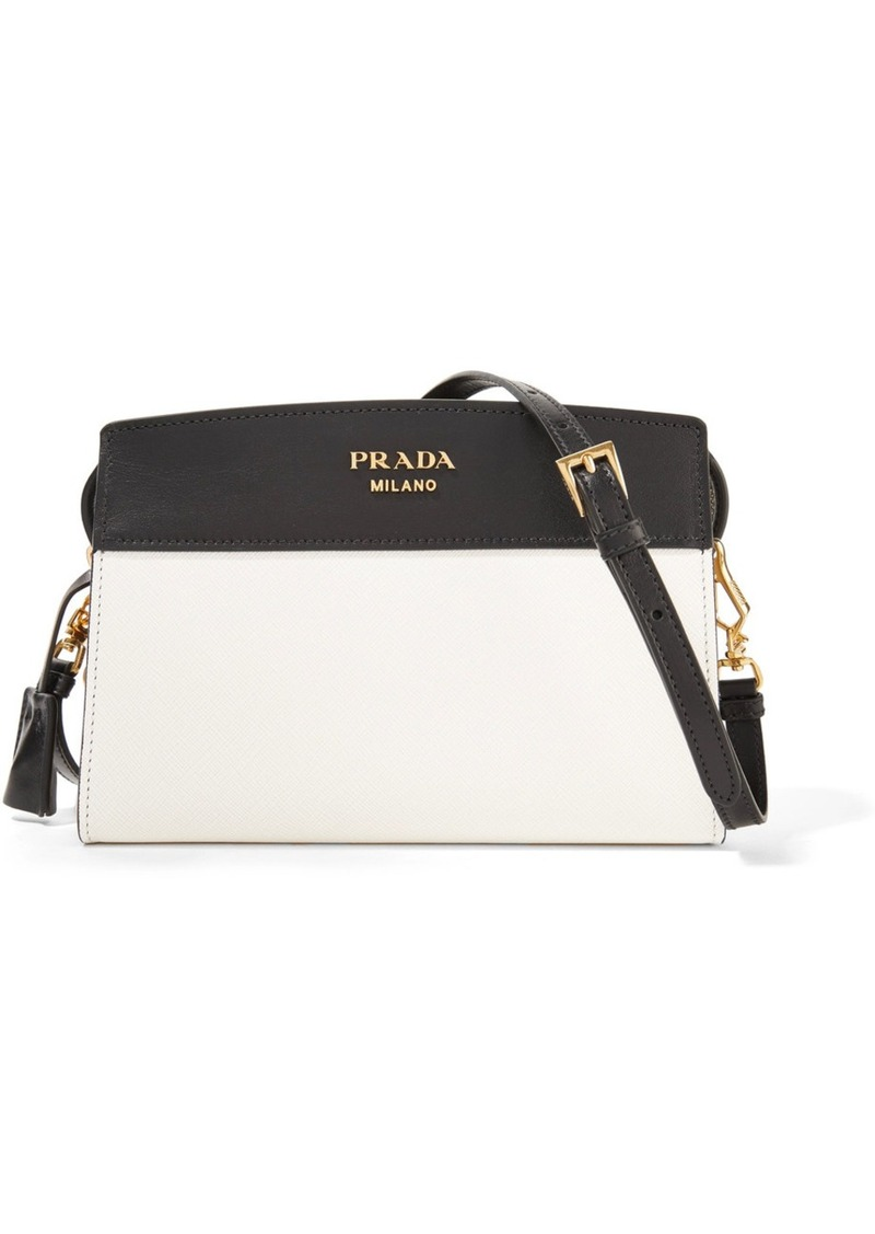 7067620fd Prada Prada Esplanade small two-tone leather shoulder bag | Handbags