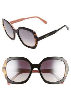 Prada Etiquette 54mm Square Sunglasses