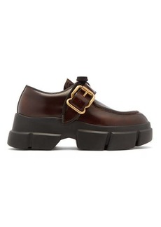 Prada Exaggerated sole leather loafers