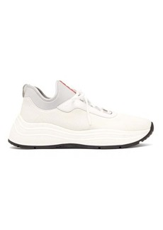 Prada Exaggerated sole mesh trainers