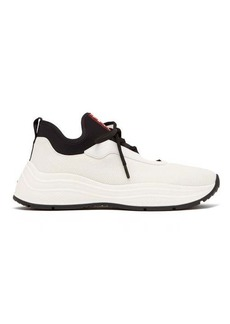 Prada Exaggerated-sole mesh trainers