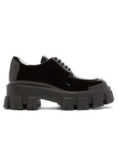 Prada Exaggerated-sole patent-leather derby shoes