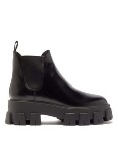 Prada Exaggerated tread-sole leather ankle boots