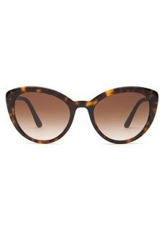 Prada Eyewear Cat-eye tortoiseshell-acetate sunglasses