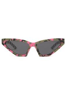 Prada Eyewear Disguise cat-eye camouflage acetate sunglasses