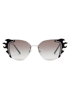 Prada Eyewear Flame-acetate trim square sunglasses