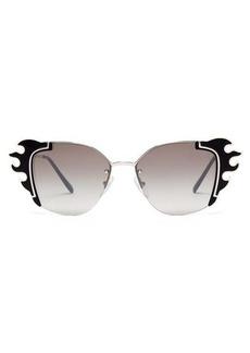 Prada Eyewear Flame-acetate trim square sunglasses
